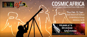 Cosmic Africa : Black FUTURE MONTH Thur Feb. 12, 7pm Adm $6